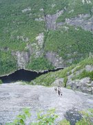 Rock Climbing Photo: Near the top of the slab