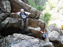 Rock Climbing Photo: Steve Miller and Sheila Matz in the Dike.