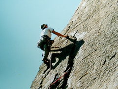 Rock Climbing Photo: Higher up on the 2nd ascent (photo by Ed Palen)