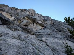 Rock Climbing Photo: Pitch 1. Plenty of options on the slab lead to ste...
