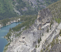 Rock Climbing Photo: Jaberwocky Tower, including the East face, as seen...