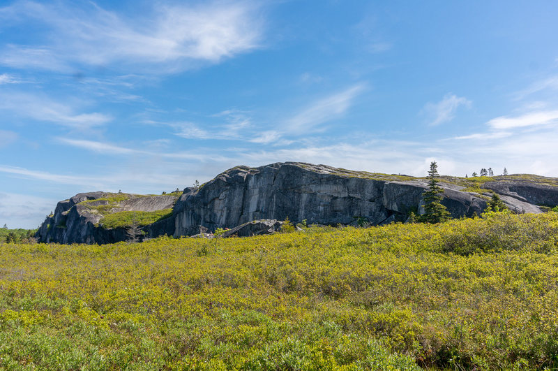 Rock Climbing Photo: Sorrows End Wide Cliff View