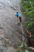 Rock Climbing Photo: Ryan, at the crux