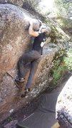 Rock Climbing Photo: Hitting the second hard move.