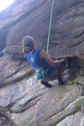Rock Climbing Photo: This climb is a perfect study in kneebars... Here ...