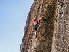 Rock Climbing Photo: Jonny on Bread Line. 6/21/16.