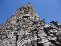 Rock Climbing Photo: nearing the summit...don't remember which pitc...