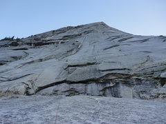 Rock Climbing Photo: 5th class slabs at start of climb