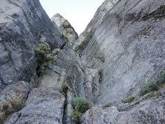 Rock Climbing Photo: Starting up Corrugation Corner