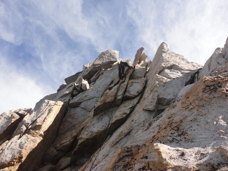5th class typical N.Ridge climbing