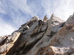 Rock Climbing Photo: 5th class typical N.Ridge climbing