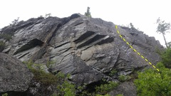 Rock Climbing Photo: Upper Wall