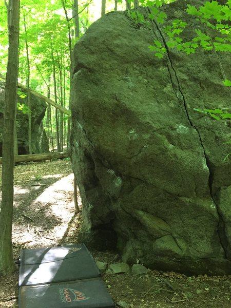 "Rock Climbing Photo: Finger Crack ""Saranac Crack"""