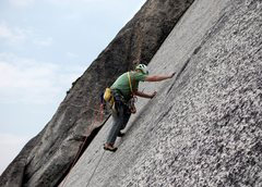 Rock Climbing Photo: Charlie Downs enjoying the route