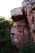 Rock Climbing Photo: looking right from the Bur Oak trail at Micro Chip...