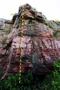 Rock Climbing Photo: from the Bur Oak trail looking at the WS Buttress ...
