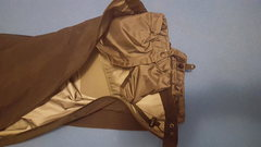 A view of the internal gaiter of the Beta AR pants