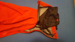 Closeup of one of the internal gaiters of the Theta SV Bibs