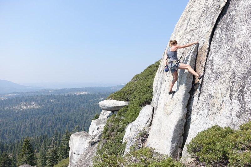 Rock Climbing Photo: Belyn Grant on September Flake
