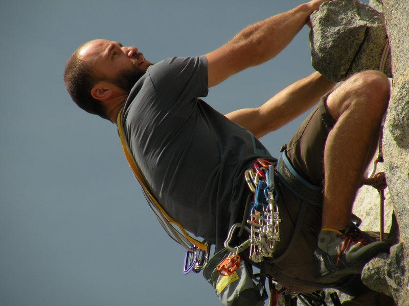 "Rock Climbing Photo: ""J"" slinging some candy."