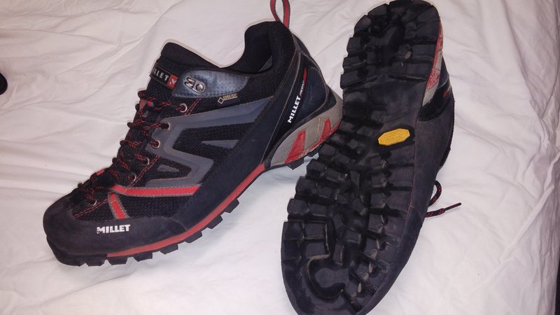 Millet Trident gtx approach shoes, size 12. These are sick. I had to buy 12.5s, they run a half size small or so.