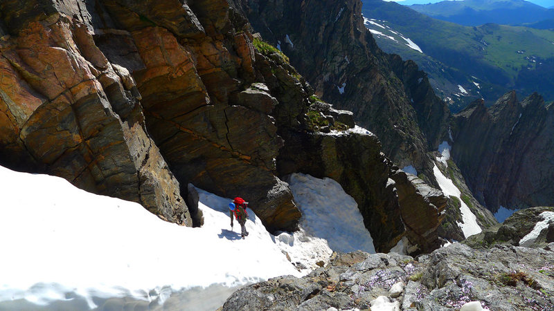 Rock Climbing Photo: Left Branch of Ypsilon's Y-Couloir, late June ...