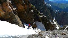 Rock Climbing Photo: Left Branch of Ypsilon's Y-Couloir, late June ...