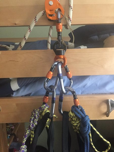 Rock Climbing Photo: Original Haul Bag Setup I