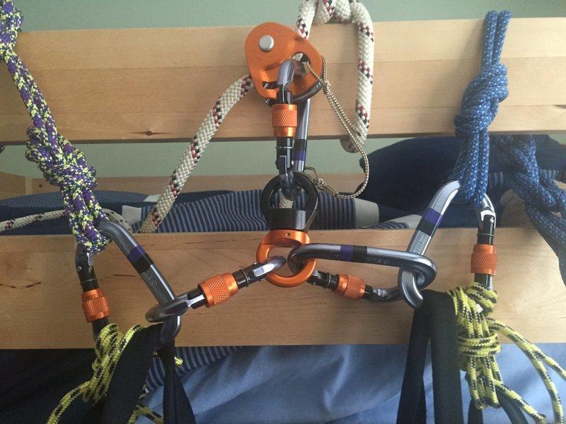 Original Haul Bag Setup II - Simulated Docking using Tethers Cords