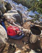 Rock Climbing Photo: Alpine Slumberland!!! Photo JC!!