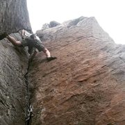 Rock Climbing Photo: Dave on Putterman's on a cool stormy summer ev...