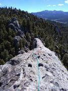 Rock Climbing Photo: Here's the traverse from the top to the rap an...