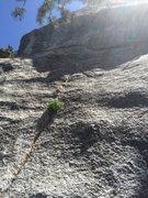 Rock Climbing Photo: The thin start