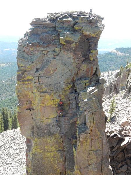 Rock Climbing Photo: John Bald in fine style