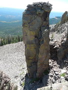Rock Climbing Photo: John Bald doing an alpine tower