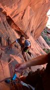 Rock Climbing Photo: top of p1. woohoo!