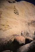 Rock Climbing Photo: Chuy Flores standing at the start of final pitch i...