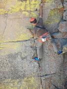 Rock Climbing Photo: John Bald setting wires.