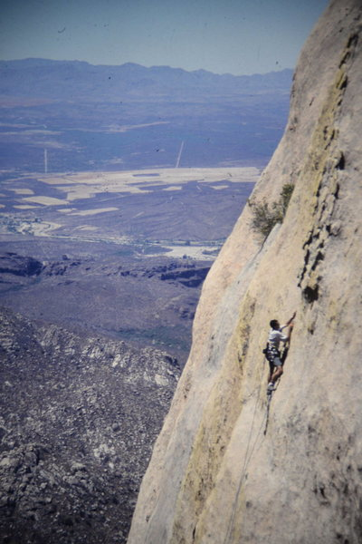 Rock Climbing Photo: the final freeclimb of the last pitch. aider neede...