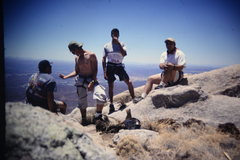 Rock Climbing Photo: on top of head wall but false summit at the end of...