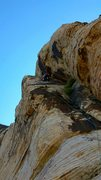 Rock Climbing Photo: Leading P6. great route!