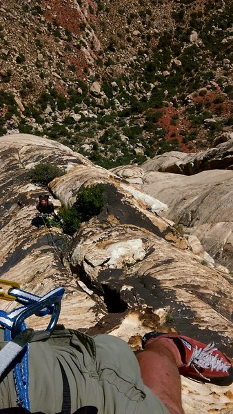 Rock Climbing Photo: taking in the view a little ways up P6. good times...