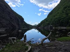 Rock Climbing Photo: The amazing view of Avalanche Lake that greets you...