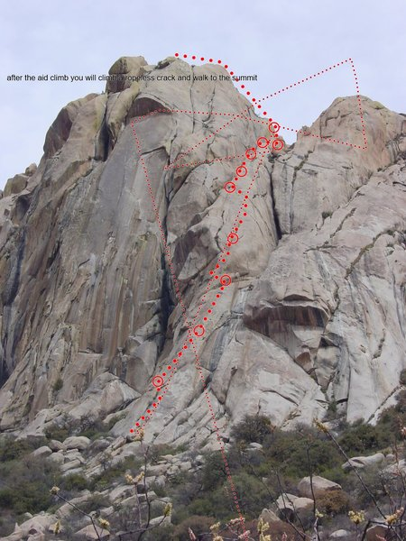 Rock Climbing Photo: this is Mi Flaquita route.