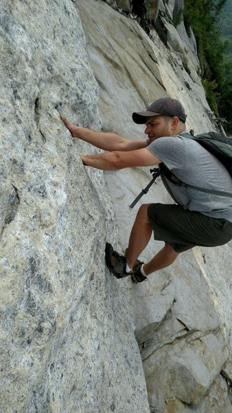 Rock Climbing Photo: Either a new 5.11 variation on the Trap Dyke or so...