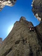 Rock Climbing Photo: Enjoying the first pitch.