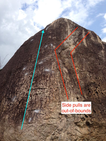 Side pulls to the right are out-of-bounds