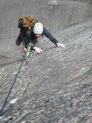 Rock Climbing Photo: Tom on the Crux Dike