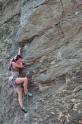 Rock Climbing Photo: Romancing the Stone - climber: Annie