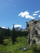 Rock Climbing Photo: Quiet bouldering in a beautiful meadow abounds a m...